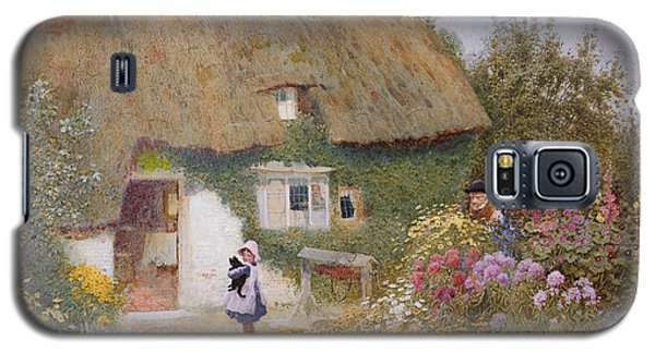 Feeding The Pigeons Galaxy S5 Case by Arthur Claude Strachan