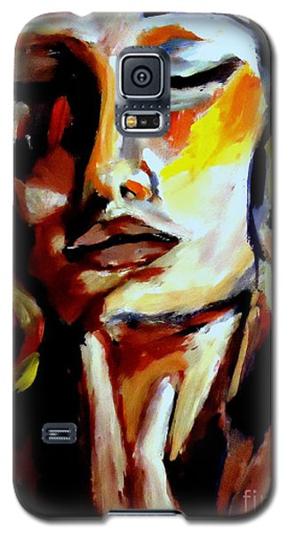 Galaxy S5 Case featuring the painting Feel by Helena Wierzbicki