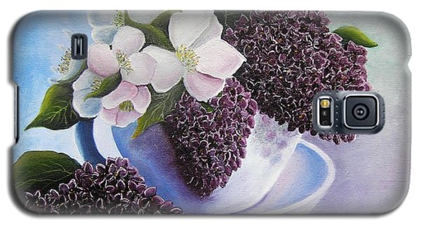 Galaxy S5 Case featuring the painting Feel The Fragrance by Vesna Martinjak
