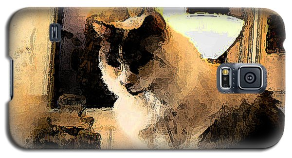 Galaxy S5 Case featuring the photograph Feline Rodin by Lin Haring