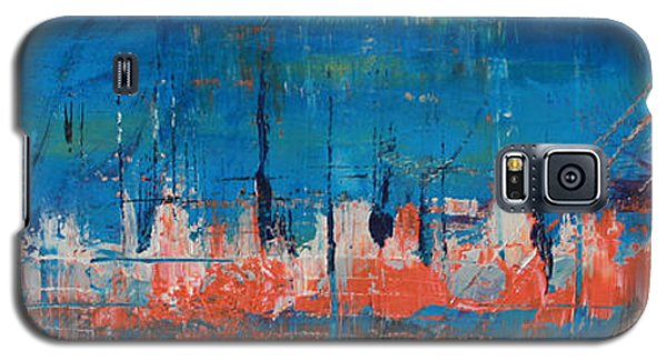 Galaxy S5 Case featuring the painting Felulukas by Lucy Matta