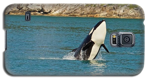 Galaxy S5 Case featuring the photograph Female Orca Cheval Island Alaska by Michael Rogers