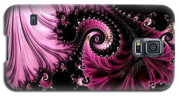 Galaxy S5 Case featuring the digital art Femme Fatale Fractal by Susan Maxwell Schmidt