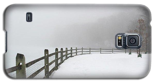 Fence In Fog Galaxy S5 Case