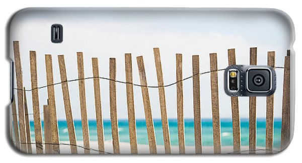 Fence On The Beach Galaxy S5 Case by Shelby  Young