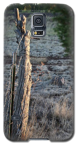 Galaxy S5 Case featuring the photograph Fence Post by David S Reynolds