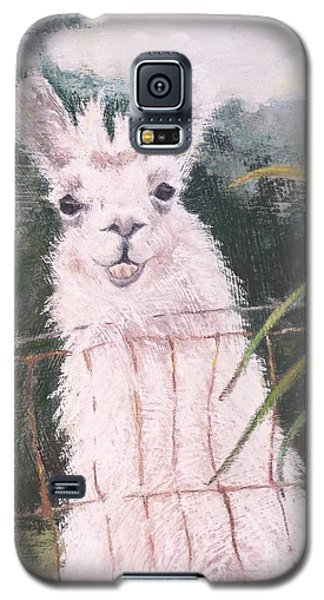 Galaxy S5 Case featuring the painting Fences Make Good Neighbors by Mary Lynne Powers