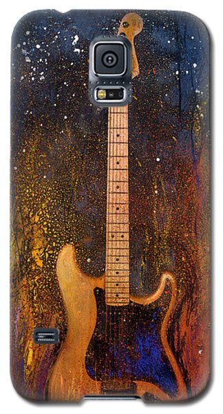 Galaxy S5 Case featuring the painting Fender On Fire by Andrew King