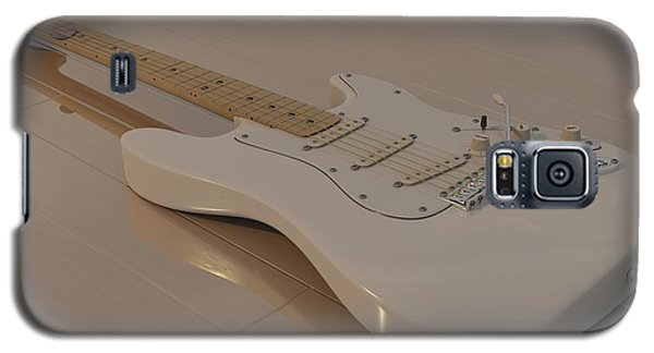 Fender Stratocaster In White Galaxy S5 Case by James Barnes