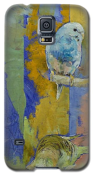 Parakeet Galaxy S5 Case - Feng Shui Parakeets by Michael Creese