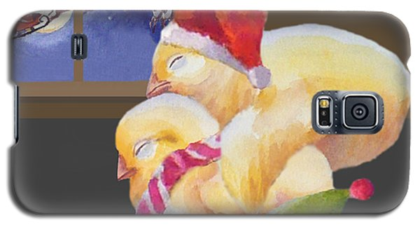 Baby Chicks Night Before Christmas Galaxy S5 Case