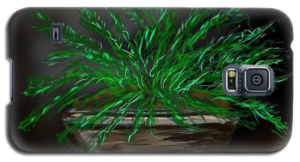 Galaxy S5 Case featuring the digital art Fern by Christine Fournier
