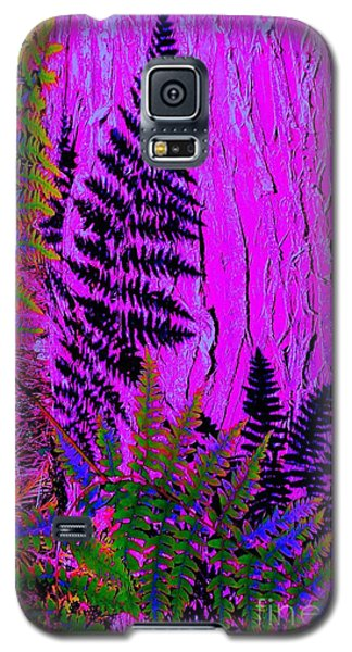 Galaxy S5 Case featuring the photograph Fern Shadows by Ann Johndro-Collins