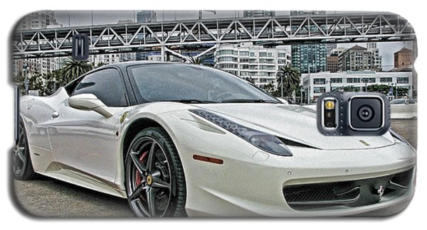 Ferrari 458 Italia In White Galaxy S5 Case