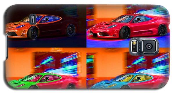 Galaxy S5 Case featuring the photograph Ferrari Collage by Gunter Nezhoda