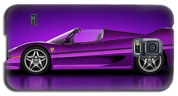 Galaxy S5 Case featuring the digital art Ferrari F50 - Neon by Marc Orphanos
