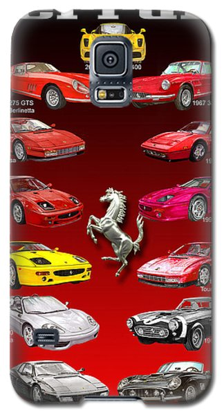 Ferrari Poster Art Galaxy S5 Case by Jack Pumphrey