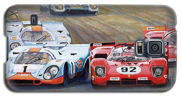 Car Galaxy S5 Case - Ferrari Vs Porsche 1970 Watkins Glen 6 Hours by Yuriy Shevchuk