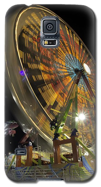 Ferris Wheel At Night Galaxy S5 Case by Bob Noble Photography