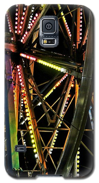 Galaxy S5 Case featuring the photograph Lit Ferris Wheel  by Lilliana Mendez