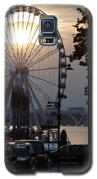Galaxy S5 Case featuring the photograph Ferris Wheel Sunset 2 by James Granberry