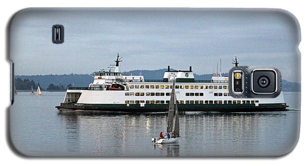 Galaxy S5 Case featuring the photograph Ferry Issaquah And Sailboats by E Faithe Lester