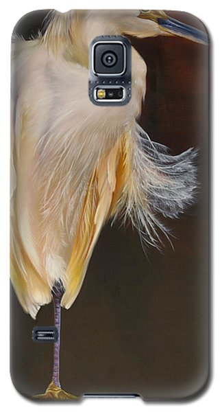 Galaxy S5 Case featuring the painting Fervent Egret by Phyllis Beiser