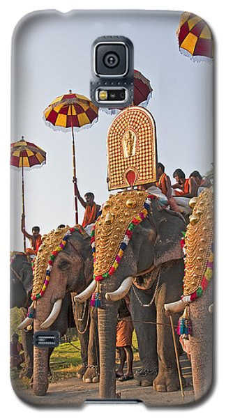 Galaxy S5 Case featuring the photograph Kerala Festival Elephants by Dennis Cox WorldViews