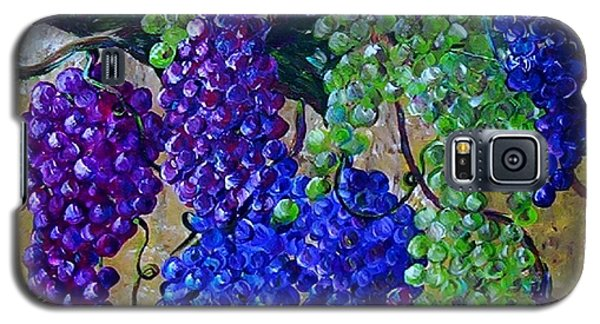 Galaxy S5 Case featuring the painting Festival Of Grapes by Eloise Schneider