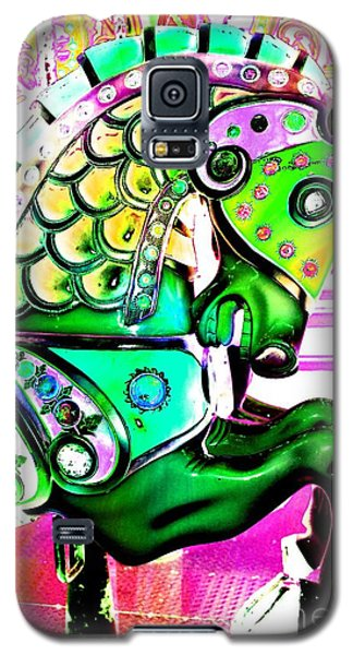 Festive Green Carnival Horse Galaxy S5 Case