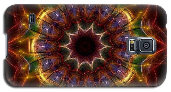 Galaxy S5 Case featuring the digital art Festive Lights by Mario Carini