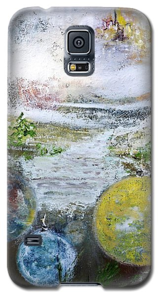 Galaxy S5 Case featuring the painting Festive Mood by Evelina Popilian