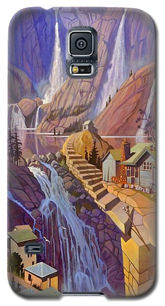 Galaxy S5 Case featuring the painting Fibonacci Stairs by Art James West