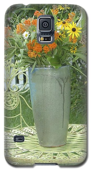 Galaxy S5 Case featuring the photograph Field Flowers At The Mill by Delona Seserman