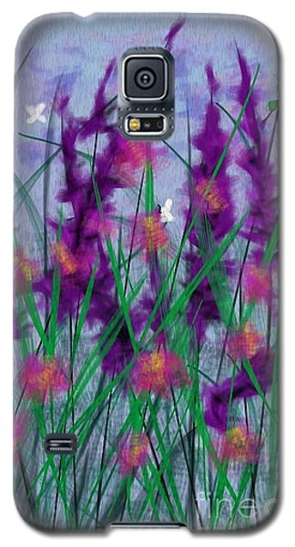 Galaxy S5 Case featuring the painting Field Flowers by Judy Via-Wolff