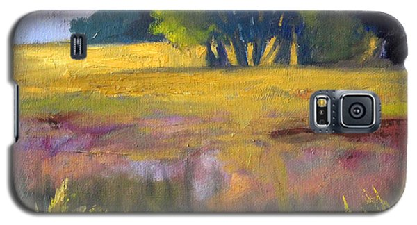 Field Grass Landscape Painting Galaxy S5 Case