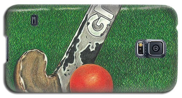 Galaxy S5 Case featuring the drawing Field Hockey by Troy Levesque