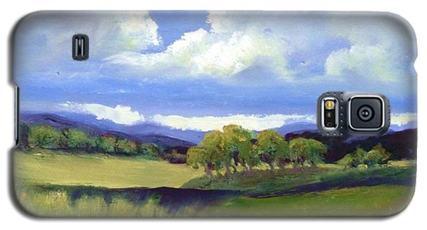 Field In Spring Galaxy S5 Case by Sally Simon