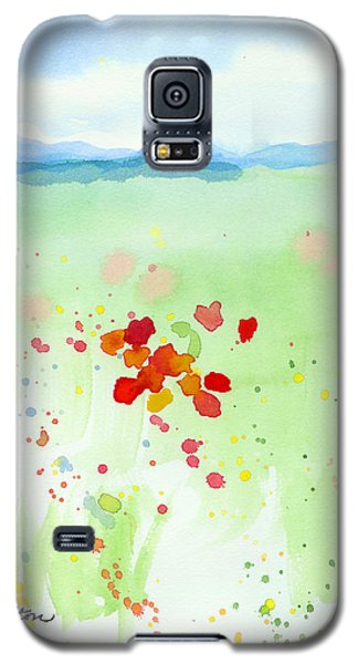 Galaxy S5 Case featuring the painting Field Of Flowers 2 by C Sitton