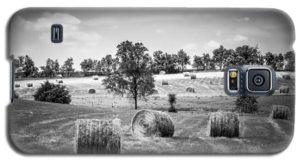 Field Of Hay In Black And White Galaxy S5 Case