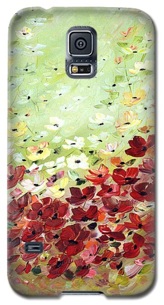 Galaxy S5 Case featuring the painting Field Of Poppies by Dorothy Maier