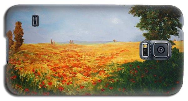 Field Of Poppies Galaxy S5 Case
