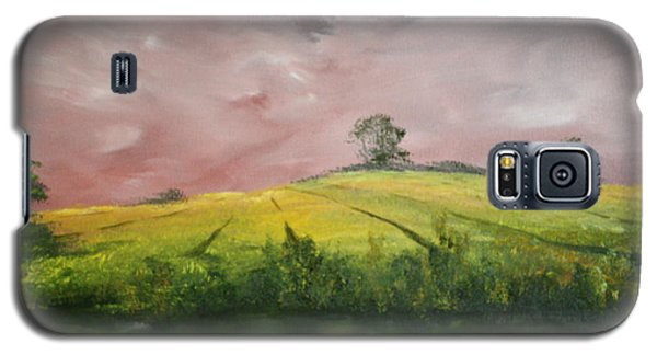 Galaxy S5 Case featuring the painting Field Of Rapeseed Oil by Jean Walker