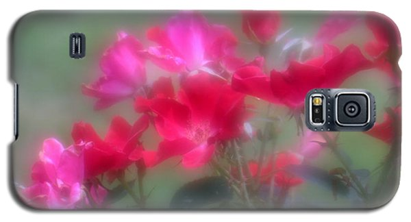 Galaxy S5 Case featuring the photograph Field Of Roses by Mary Lou Chmura
