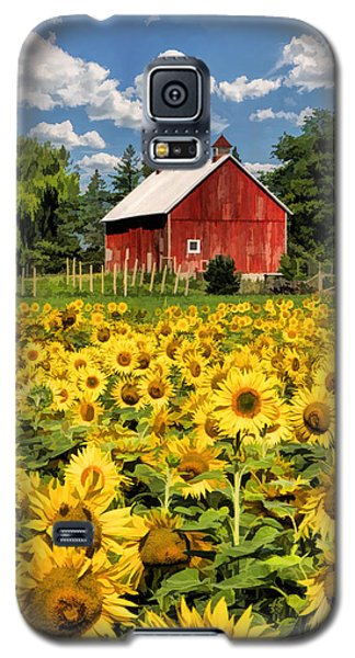 Field Of Sunflowers Galaxy S5 Case by Christopher Arndt