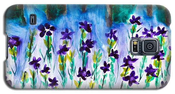 Field Of Violets Galaxy S5 Case by Frank Bright