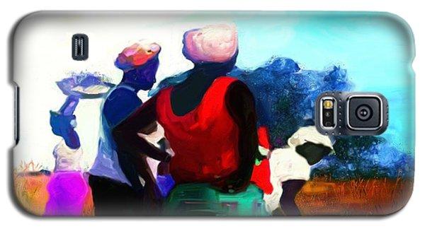 Galaxy S5 Case featuring the painting Field Women by Vannetta Ferguson