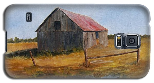 Galaxy S5 Case featuring the painting Fields Of Gold by Jackie Mueller-Jones