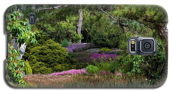 Galaxy S5 Case featuring the photograph Fields Of Heather by Jordan Blackstone
