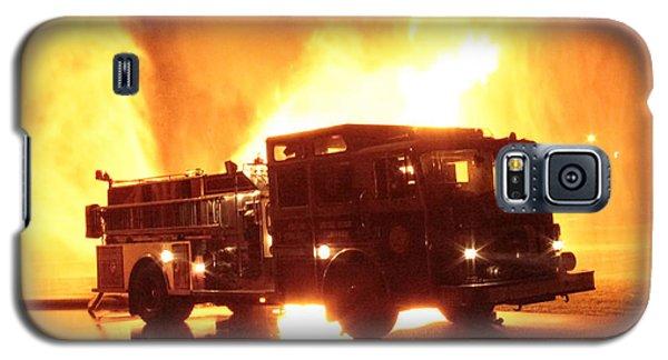 Fiery Fire Truck Galaxy S5 Case